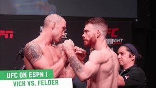 James Vick vs. Paul Felder | UFC on ESPN 1 Ceremonial Weigh-Ins
