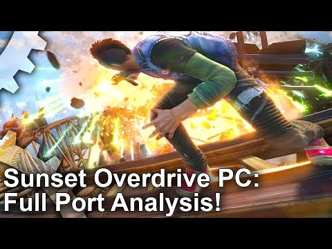 [4K] Sunset Overdrive PC Analysis: A Great Game But A Disappointing Port?