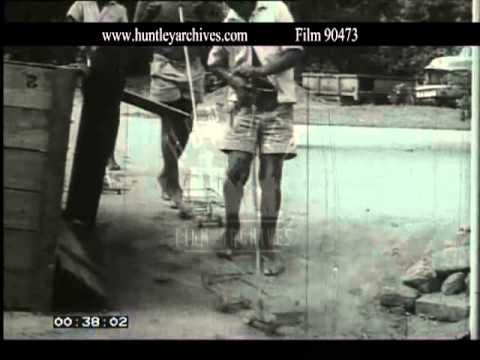 Children playing with home made toys in Africa, 1960's -- Film 90473