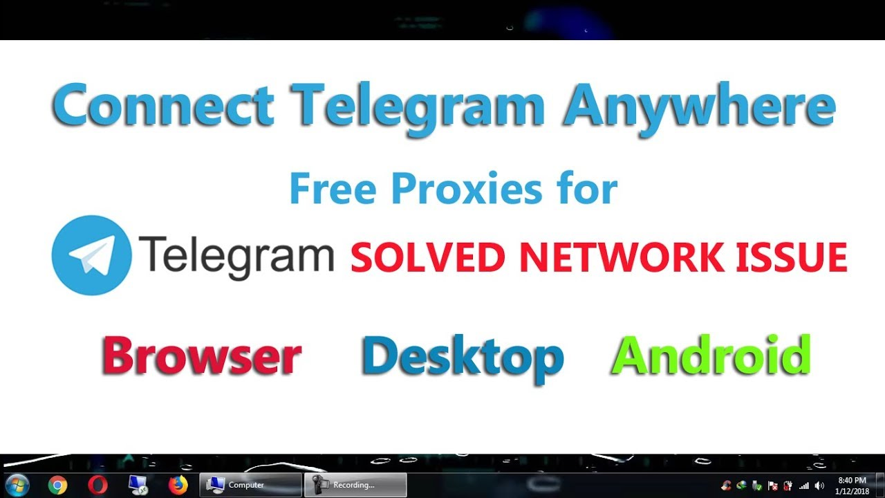 Telegram Connecting Issue Solved | Connect Telegram in Android Browser  Desktop