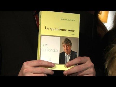 """Goncourt des lycéens pour """"Le quatrième mur"""" de Sorj Chalandon"""