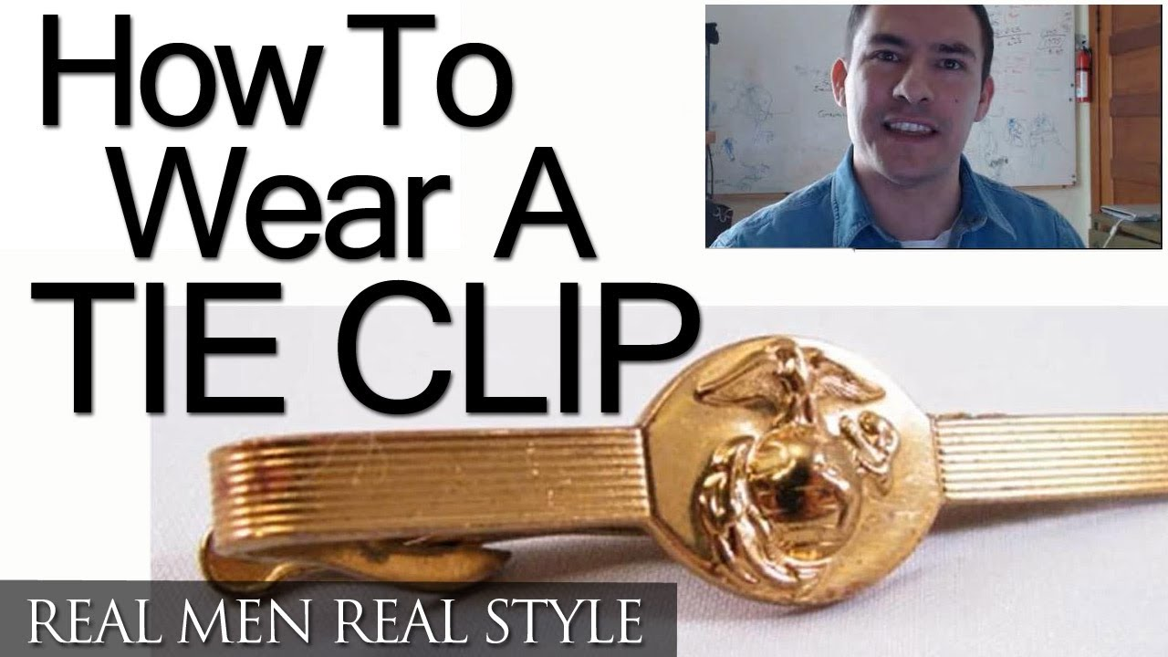 How To Wear A Tie Clip  Where To Buy A Tie Clips  Tie Bar History
