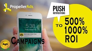 Is Propellerads Converting ? Crazy ROI Campaigns With Push Notifications = Cheap Traffic!