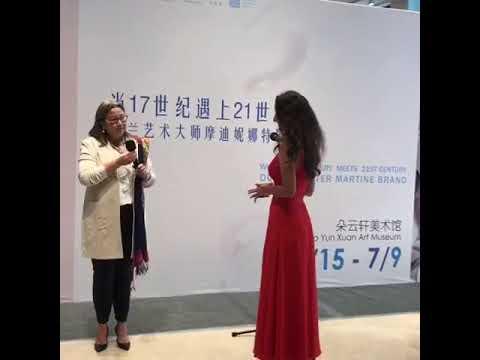 Solo Exhibition Martine Brand Duo Yun Xuan Art Museum Shanghai China Generale Ambassy Opening