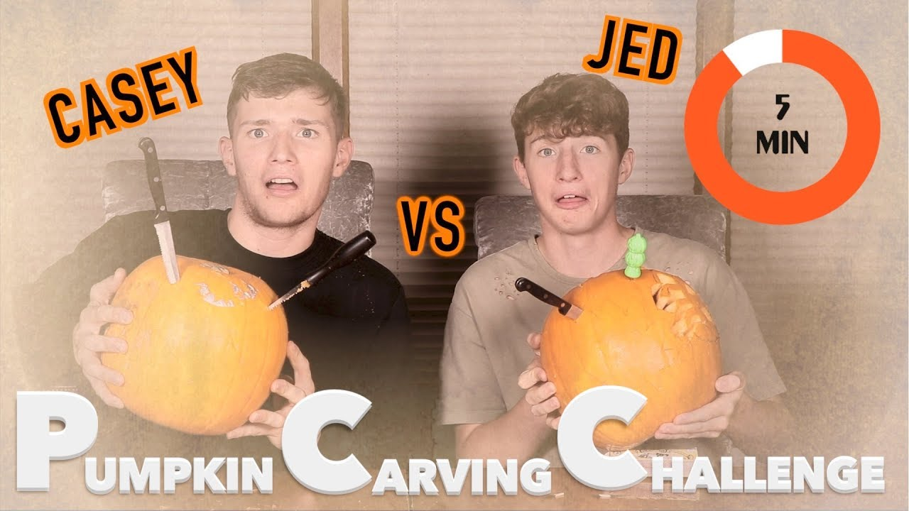 Sibling Challenge  Minute Pumpkin Carving Vs Jed