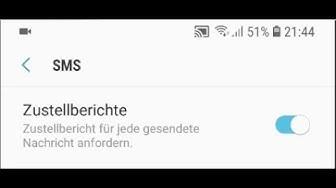 Samsung Galaxy S9 Zustellbericht für SMS / MMS aktivieren einschalten