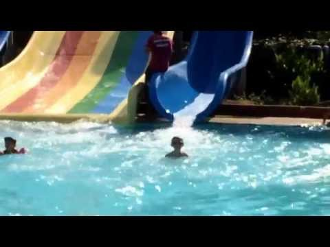 Northern Cyprus Holiday 2014 - Acapulco beach spa and waterpark resort montage -Michael Phelps!