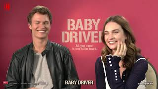 Baby Driver Rapid Fire - Ansel Elgort, Lily James & Edgar Wright