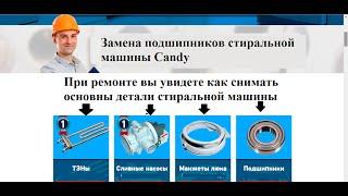 Замена подшипников стиральной машины CANDY(Процесс замены подшипников стиральной машины Candy +причины отказа отжима стиральной машины., 2015-11-23T18:25:39.000Z)