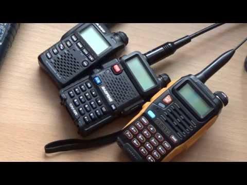 Baofeng Pofung UV-5R, GT-3 TP und YAESU VX-3E