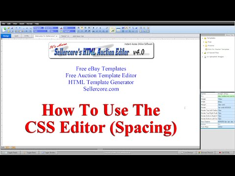How To Edit Css Spacing When Generating Free Ebay Templates Youtube