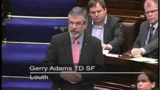 Adams tells Taoiseach to stand up for Irish interests