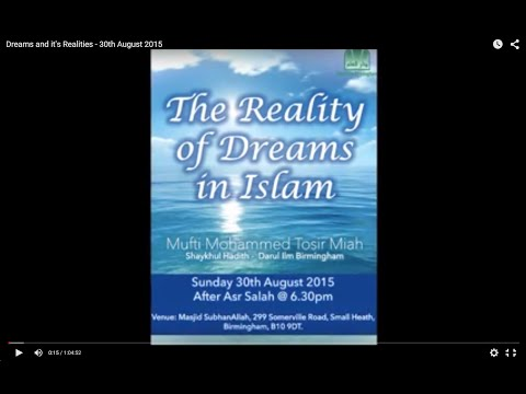 Dreams and it's Realities - 30th August 2015