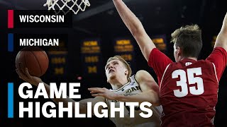 Extended Highlights: Wisconsin at Michigan | Big Ten Basketball