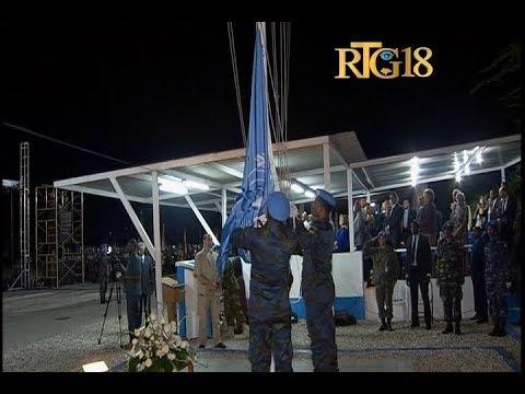 Haïti.- La cérémonie officielle marquant la fin du mandat de la MINUSTAH