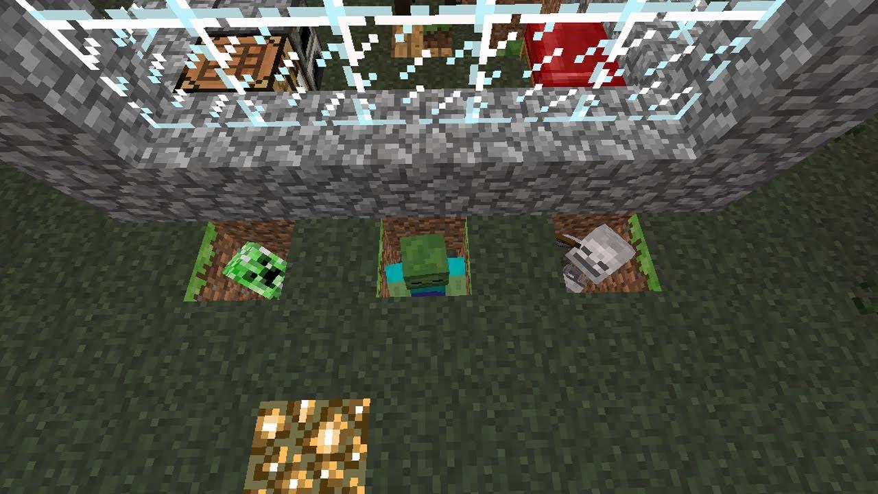 Tutorial Minecraft Trampa Para Mobs Enemigos 01 Youtube