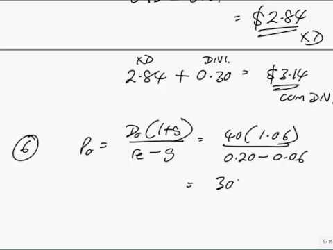 ACCA F9 The valuation of securities (part b)