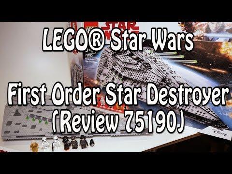 LEGO Star Wars: First Order Star Destroyer (Set 75190 Review deutsch)