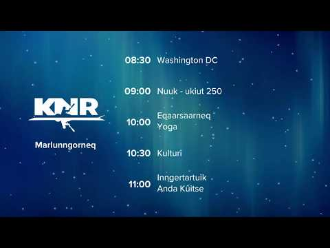 New Year on Greenland TV: KNR1, 2018.12.31