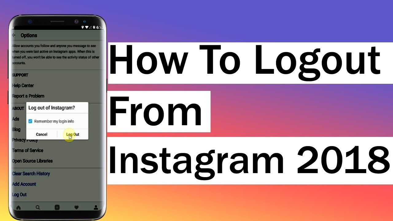 How to logout from instagram 2018 youtube ccuart Choice Image