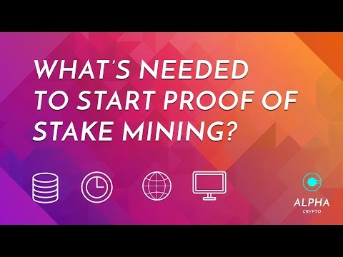 How to start Proof of Stake Mining - a cryptocurrency guide to what's needed! And the setup I use!
