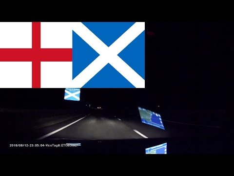 Driving in England & Scotland - From Cambridge to Edinburgh 6 hrs 45 mins