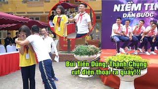 Quang Hải ngại ngùng ôm nữ sinh, Đình Trọng thắt khăn quàng đáng yêu vô cực | Ted Trần TV