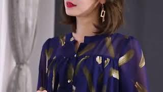 kirahosi 중년 여성 여 엄마옷 반팔 티셔츠 블라…
