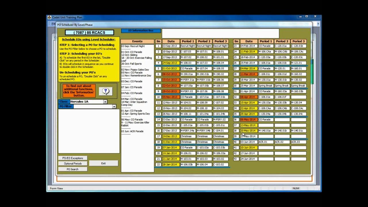 Central Region Cadet Training Plan Template Instructional Video 7 – Training Plan Template