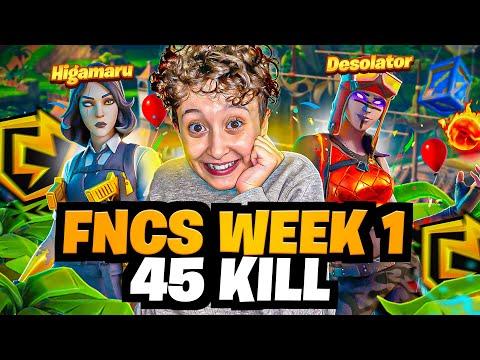 On a détruit les FNCS avec ce TOP 1 à 45 KILL ! (OPEN - WEEK 1)