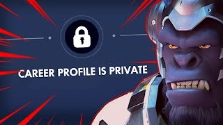 Hiding Your Career Profile | Overwatch