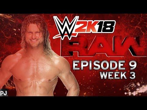 WWE 2K18 UNIVERSE MODE (EPISODE 9-WEEK 3) RAW - ALL OUT WAR!