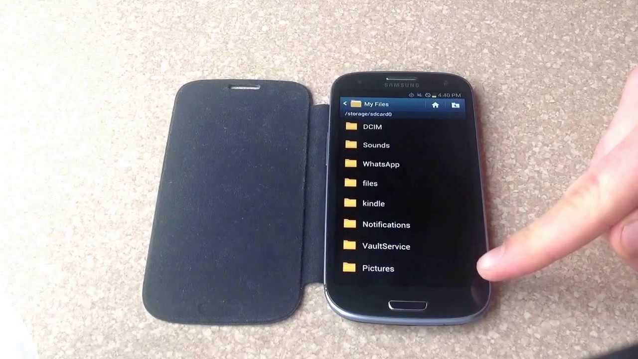 How to transfer pictures from a samsung galaxy s3 to a SD ...