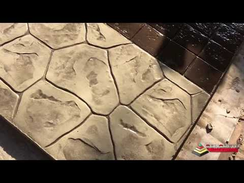How to Stamp Concrete (simple Demo)