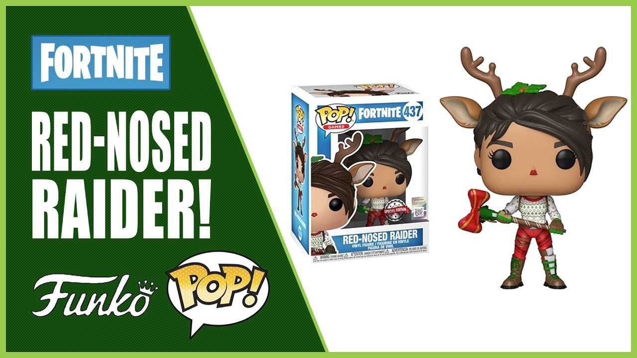 Unboxing Fortnite Red Nosed Raider Funko Pop Games 437 Youtube