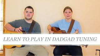 how to play guitar in dadgad tuning // step by step acoustic guitar tutorial