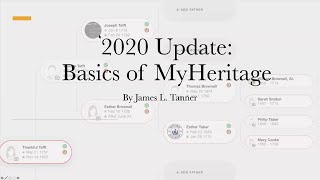 2020 Update: Basics of MyHeritage - James Tanner