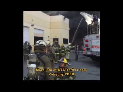 Fire trucks burn at Prince George's County, MD fire