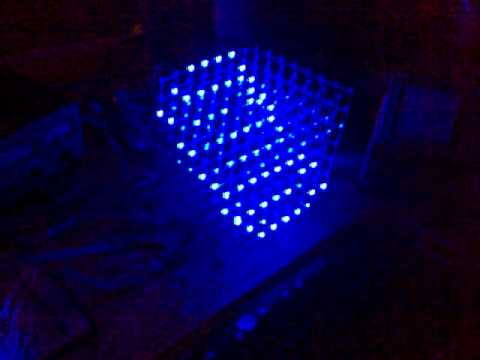 Led Cube 8x8x8 From Instructables Youtube