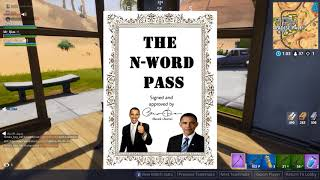fortnite: the n-word pass