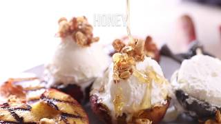 How To Make Cinnamon Grilled Peaches with Mascarpone Ice Cream
