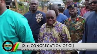 Presidential Diaries: Swearing in of new EC Chairperson; 12th Congregation of GIJ