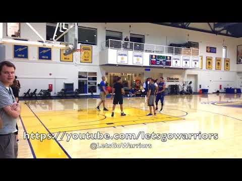 Steph Curry shooting routine, Bruce Fraser imitating Omri Casspi, Warriors AM shootaround b4 TOR