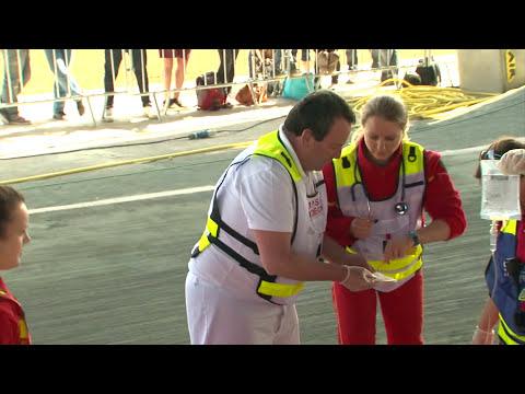 Poste de secours de la coupe de France BMX