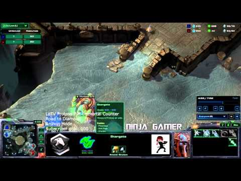 Protoss Immortal Counter with Voidrays! Starcraft 2 Legacy of the Void HD Ultra Archon mode