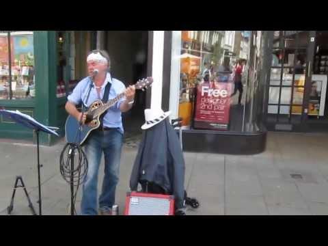 Street Performer Canterbury Busker Paul Cairns,
