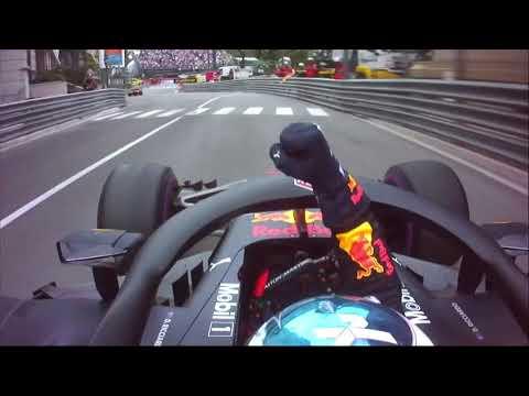 2018 Daniel Ricciardo full victory lap and team radio at Monaco