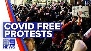 Coronavirus: No new infections ahead of protesters march | Nine News Australia