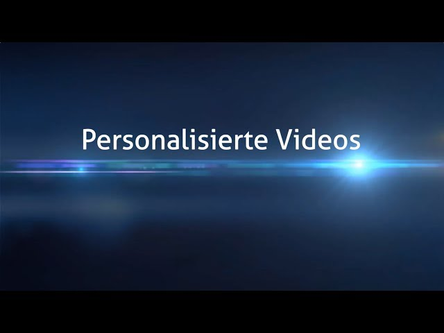Showreel Personalisierte Videos