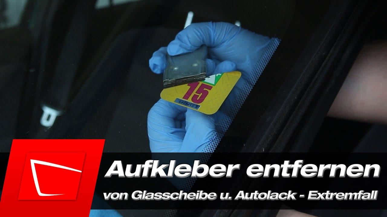Aufkleber Entfernen Umweltplakette Und Vignetten Von Glasscheibe Und Autolack Bmw E36 1